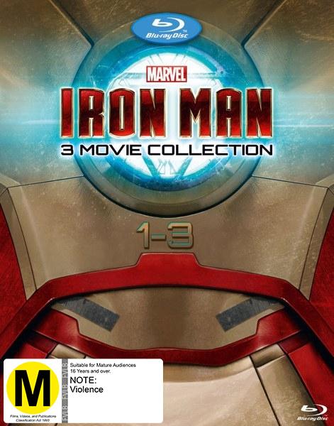 Iron Man 1-3 Boxset on Blu-ray