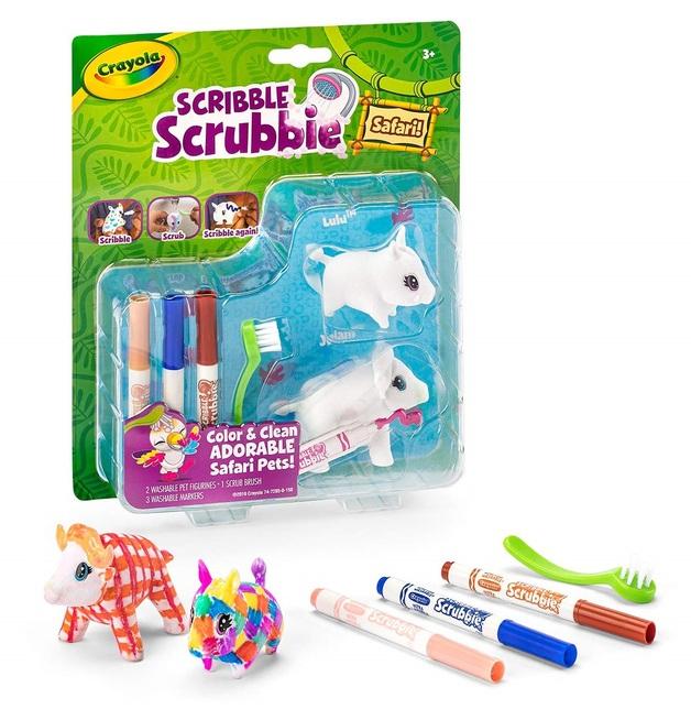 Crayola: Scribble Scrubbies - Safari Pet Pack (Bison & Boar)