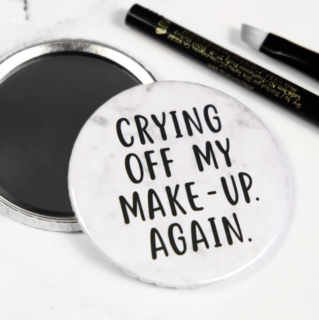 Paper Plane: Crying Off My Makeup Again! Pocket Mirror