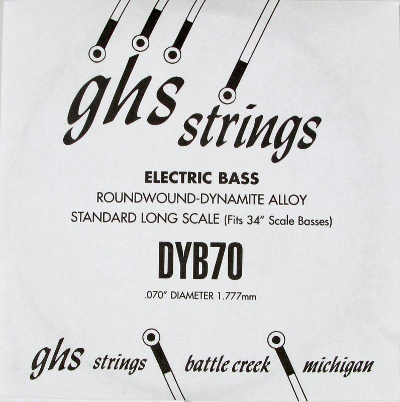 GHS 070 Dynamite Alloy Bass Boomers - Electric Bass Single String image