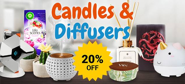 20% off Candles & Diffusers!