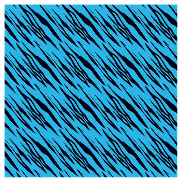 SKINZ: Flocked Book Cover - Blue Stripe Assorted (45cm x 1m)