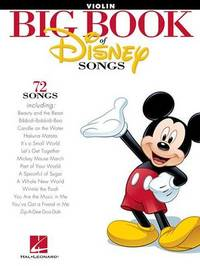 The Big Book Of Disney Songs - Violin by Hal Leonard Publishing Corporation image