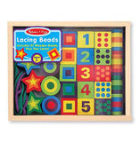 Melissa & Doug: Wooden Lacing Beads in a Box