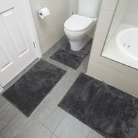 Bambury Pewter Microplush Bath Mat image