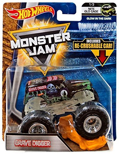 Hot Wheels: Monster Jam - Grave Digger (Nite Glo Cage)