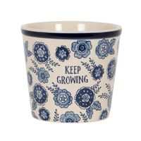 Keep Growing Planter (Blue Floral)