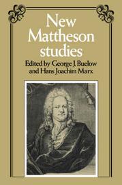 New Mattheson Studies image