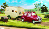 Sylvanian Families - The Caravan & Family Car Combo