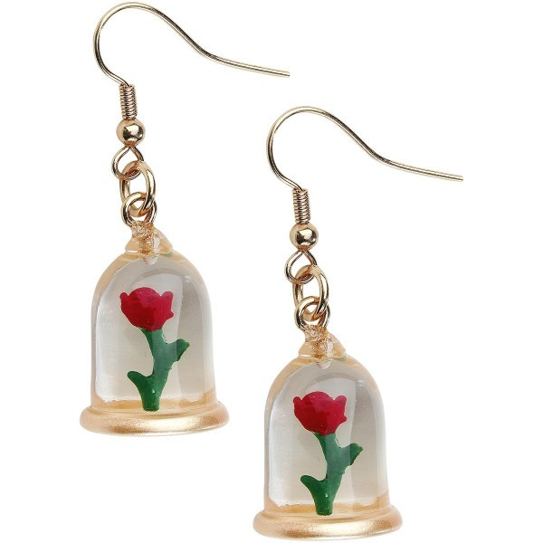 Neon Tuesday: Beauty & The Beast - Enchanted Rose Earrings