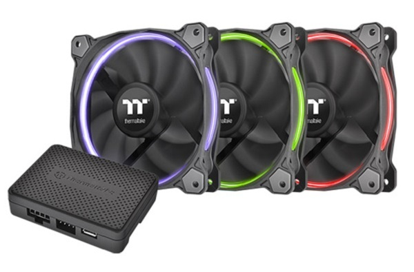 120mm Thermaltake: Riing Radiator Fan - RGB TT Premium Edition (3 Pack)