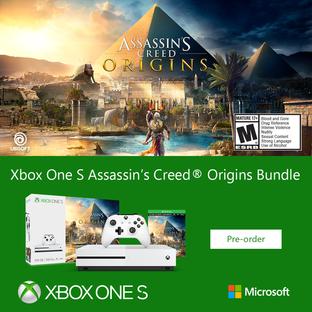 Xbox One S 500GB Assassin's Creed Origins Bundle for Xbox One