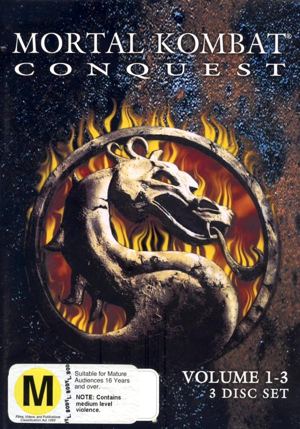 Mortal Kombat: Konquest Vol 1-3 (3 Disc) on DVD image