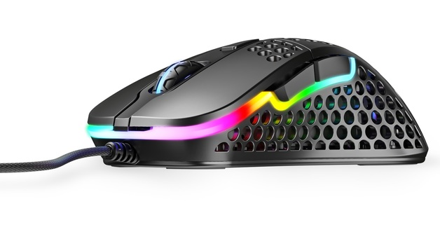 XTRFY M4 Ultra-Light RGB Gaming Mouse (Black) for PC