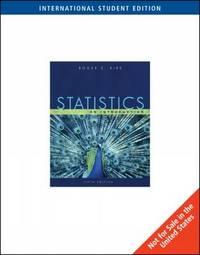 Statistics by Roger E. Kirk image
