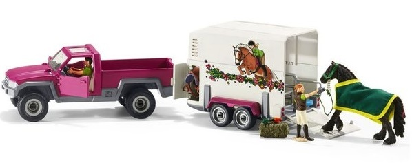 Schleich: Pick Up With Horse Box