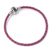 Harry Potter: Pink Leather Charm Bracelet - S