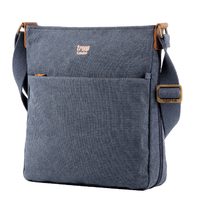 Troop London: Classic Zip Top Shoulder Bag - Blue