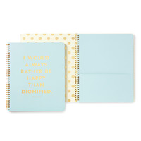 Kate Spade Large Spiral Notebook (Be Happy)