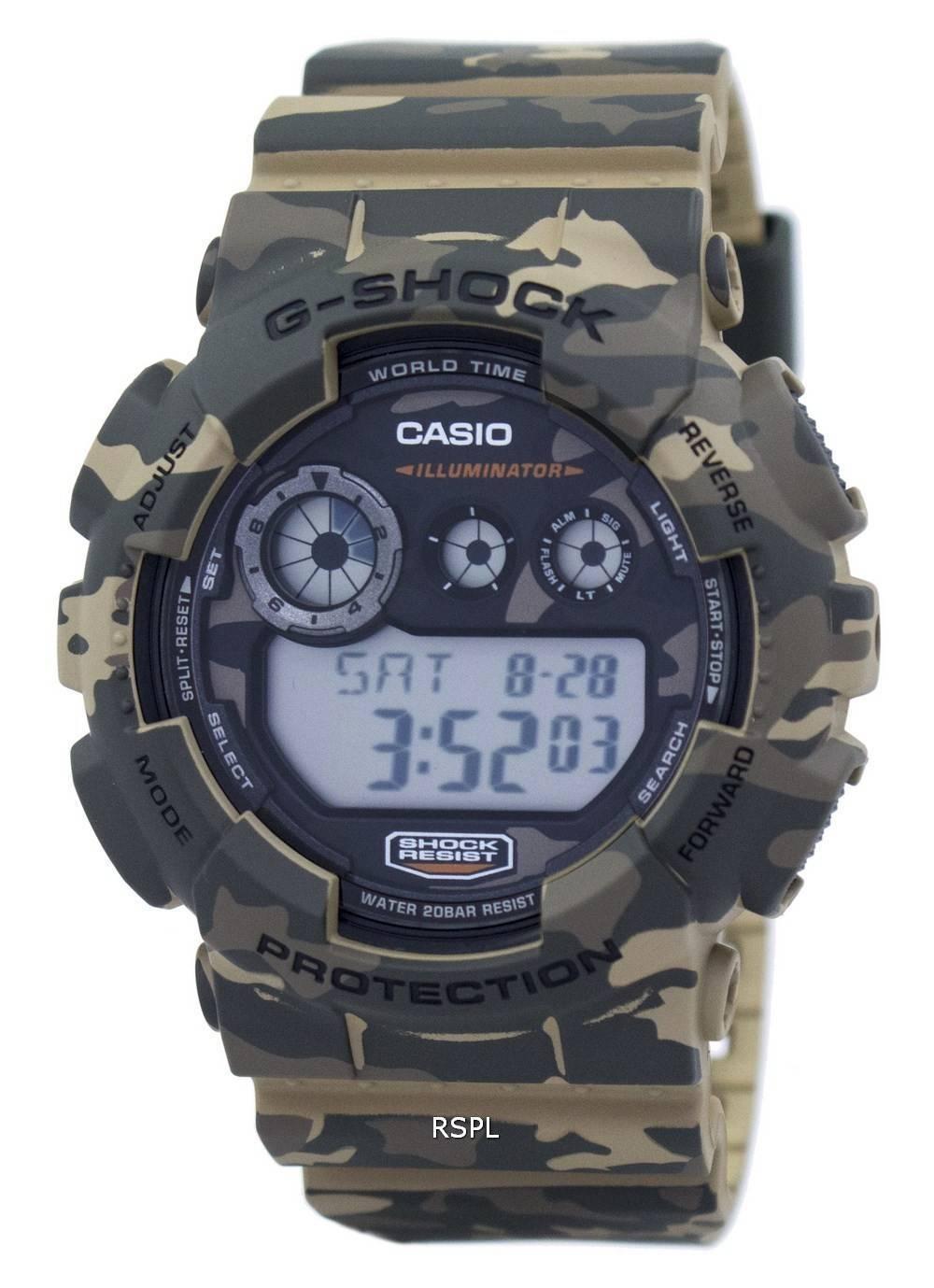 Casio G-Shock Digital Mens Camouflage Series Brown Watch GD-120CM-5 image