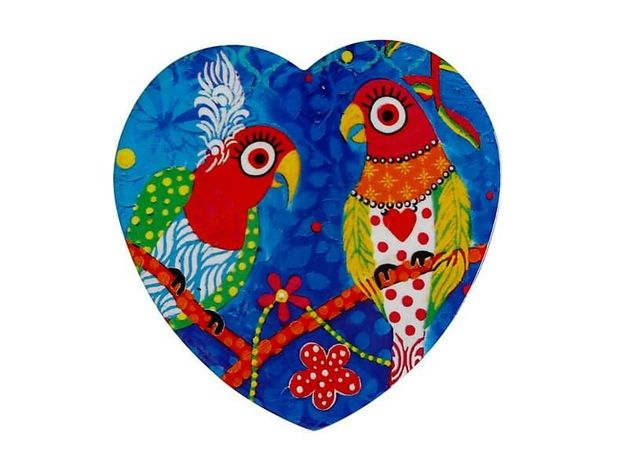 Maxwell & Williams: Love Hearts Ceramic Heart Coaster - Rainbow Girls