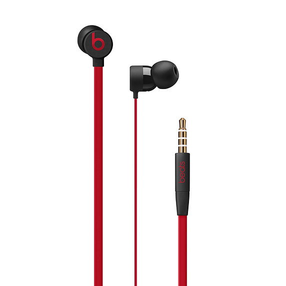 Beats: urBeats3 Earphones with 3.5mm Plug - The Beats Decade Collection - Defiant Black-Red