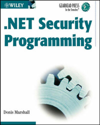 .NET Security Programming by Donis Marshall image