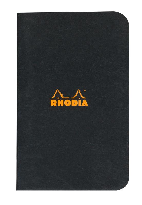 Rhodia Classic Stapled Cahier (Black)
