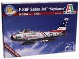 """Italeri: 1/48 F-86F Sabre Jet """"Skyblazers"""" - Model Kit"""
