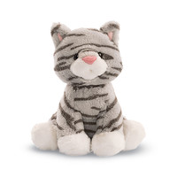 Gund: Animal Chatter Cats Plush - Gray Striped