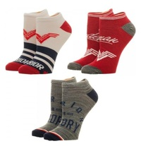 DC Comics: Wonder Woman - Ankle Socks Set (3 Pack)