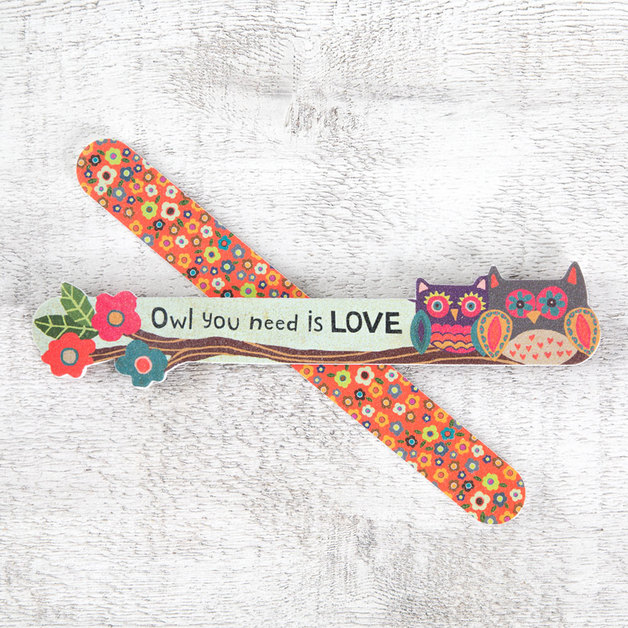 Natural Life: Emery Board Set of 2 - Owl You Need 'Love