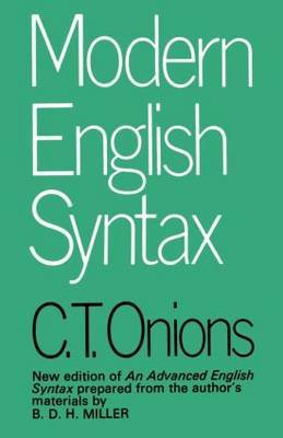 Modern English Syntax by C.T. Onions image
