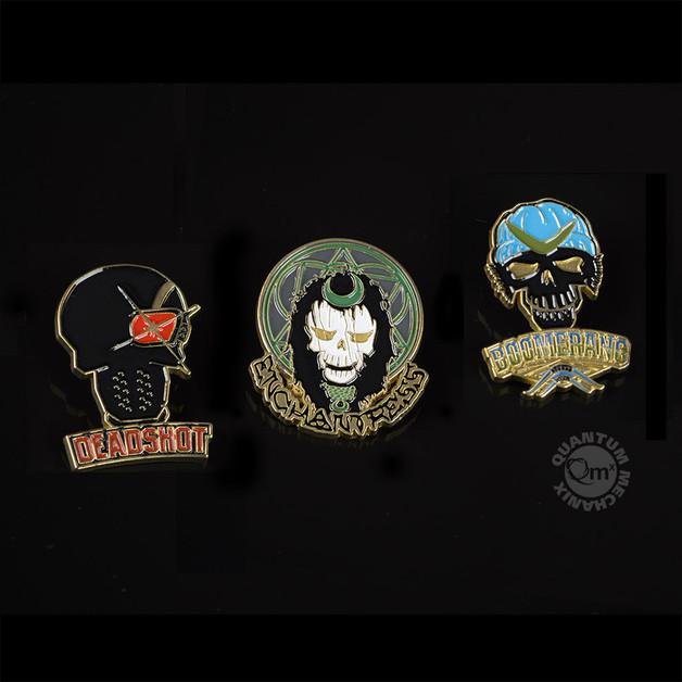 Suicide Squad Lapel Pins — Set 1