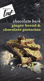 Loaf: Gingerbread & Pistachio Chocolate Bar (180g)