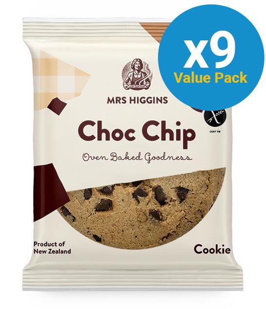 Mrs Higgins: Gluten Free Cookie Choc Chip (60g) Pack of 12