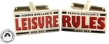 Ferris Bueller: Leisure Rules - Retro Cufflinks