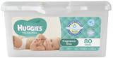 Huggies Baby Wipes Pop-Up Tub - Fragrance Free (80 Wipes)