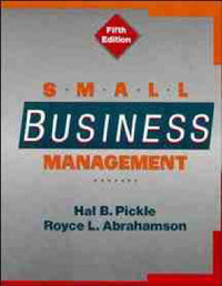 Small Business Management 5E by Hal B. Pickle image