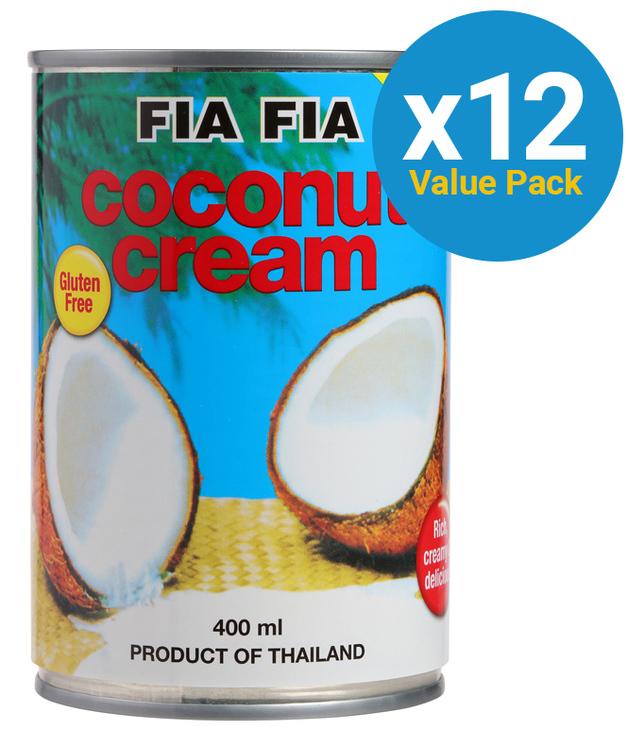 Fia Fia Coconut Cream 400ml x 12