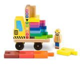 Melissa & Doug - Classic Wooden Toy Stack and Count Forklift