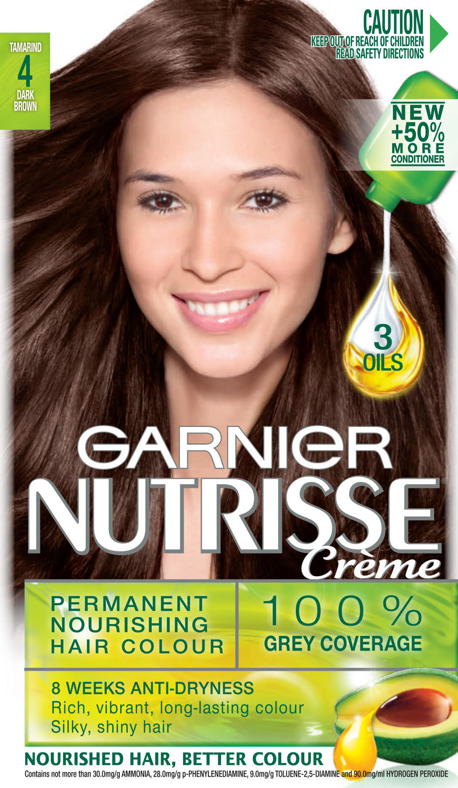 Buy Garnier Nutrisse Hair Colour 4.0 Tamarind at Mighty Ape NZ