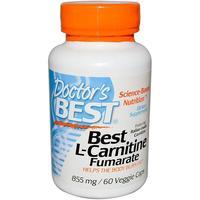 Doctor's Best L-Carnitine Fumarate 855mg (60 Veggie Capsules) image