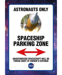 NASA Parking Tin Sign