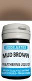 Modelmates: Translucent Weathering Liquid – Mud Brown