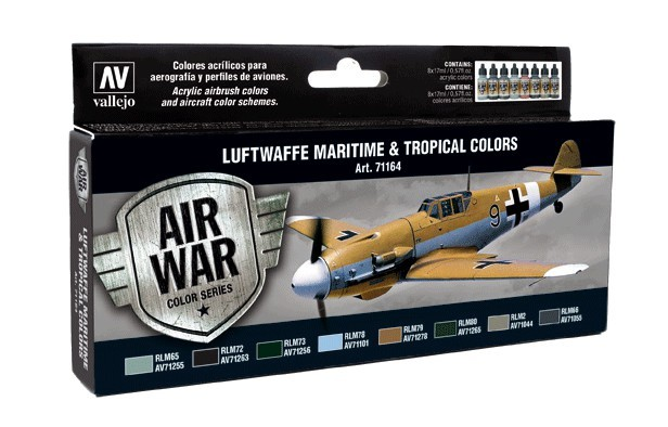 Vallejo Luftwaffe Maritime and Tropical colors Paint Set