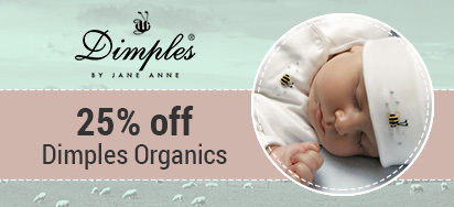 25% off Dimples Organics for Baby