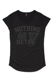 Silver Ferns Net Black Kids T-Shirt (Size 14)