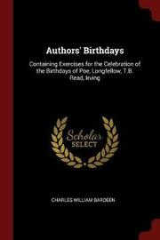 Authors' Birthdays by Charles William Bardeen image