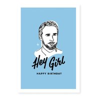 Famous Flames Birthday Card - Hey Girl